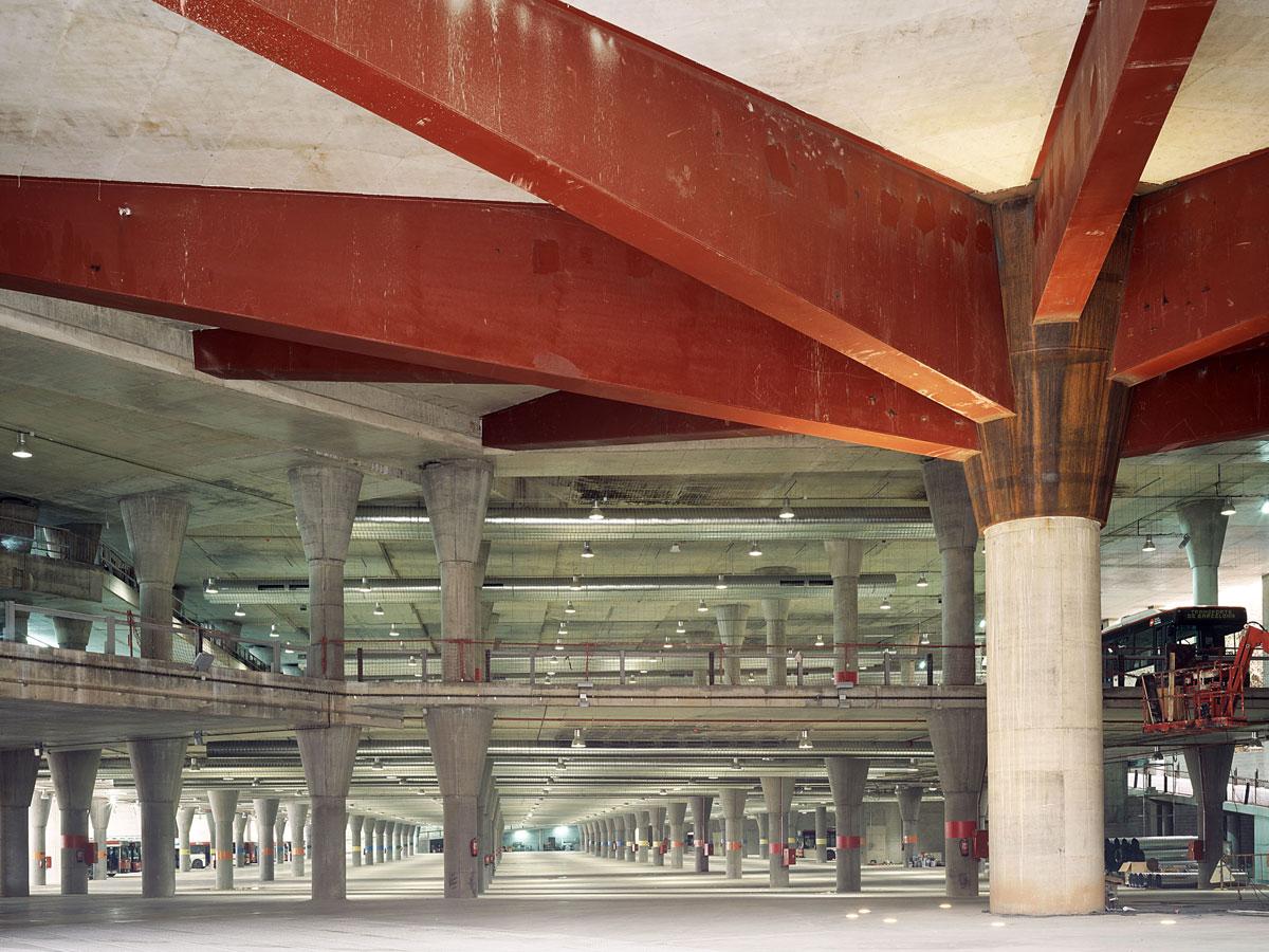 Corchera de autobuses Barcelona. Diseño y arquitectura para infraestructuras de transporte