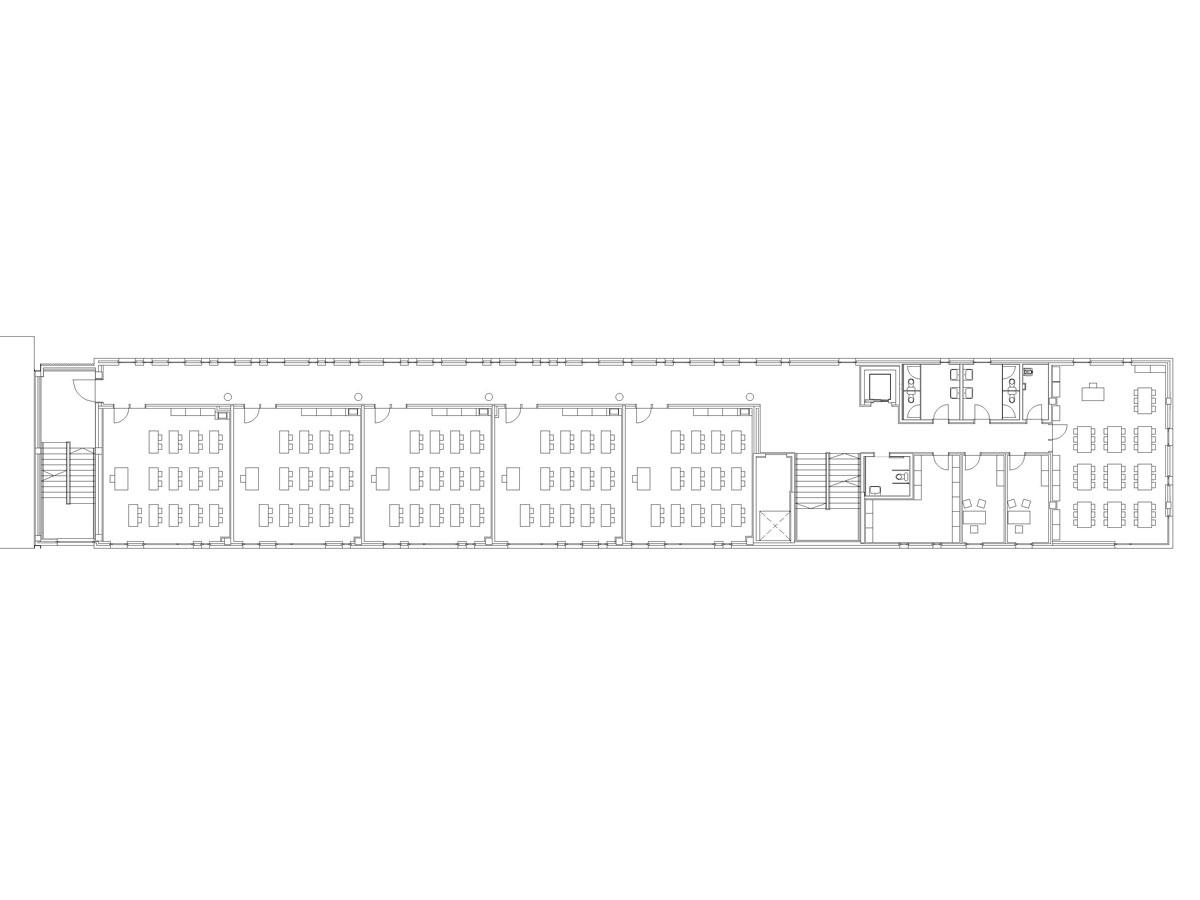 Escola Mediterranea a la Barceloneta. Planta aulari